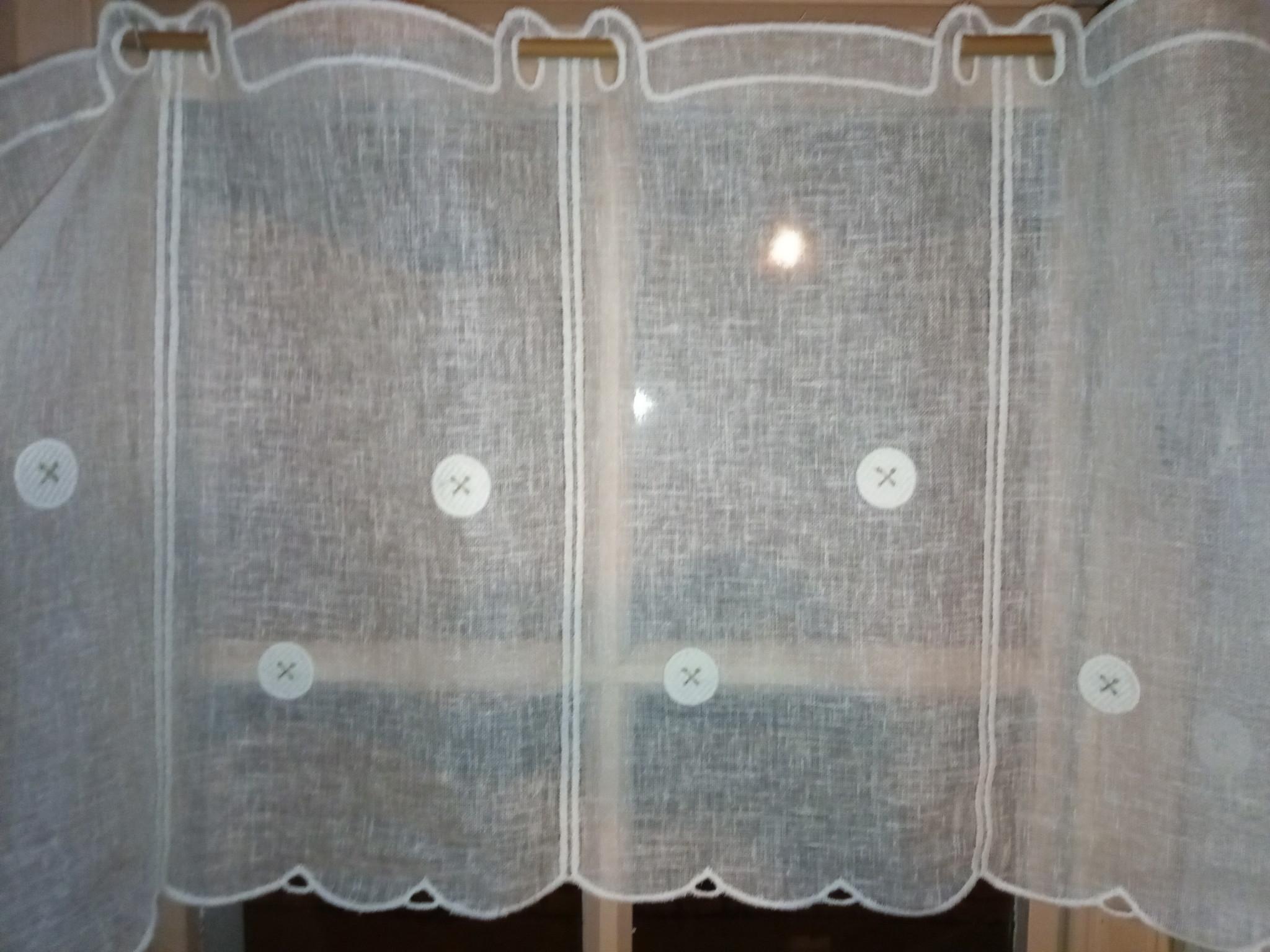 button curtain 45cm high