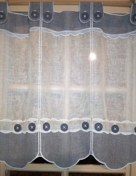 grey and white curtain