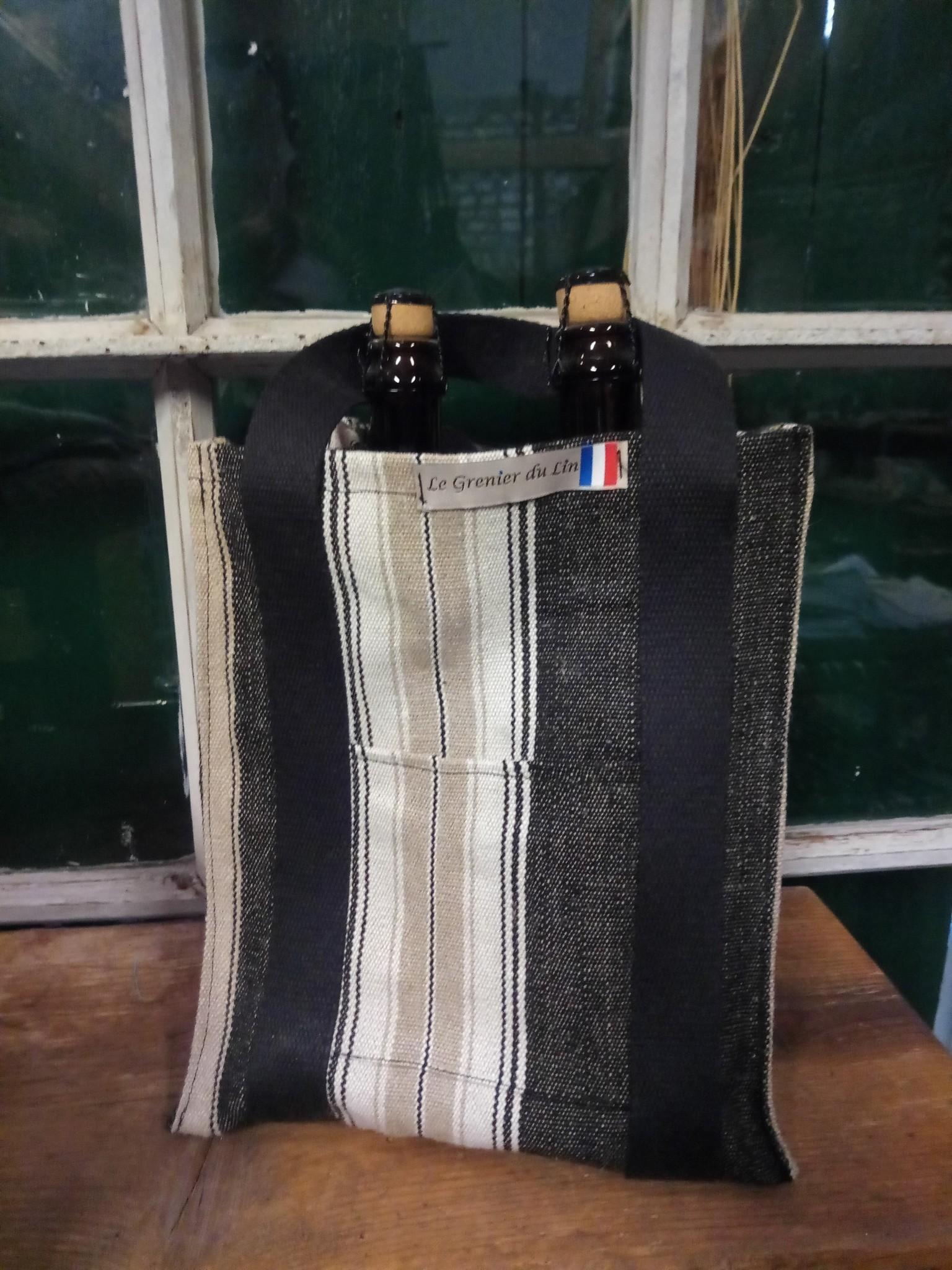 """Le grenier du lin Porte bouteille """" 4 bouteilles """""""