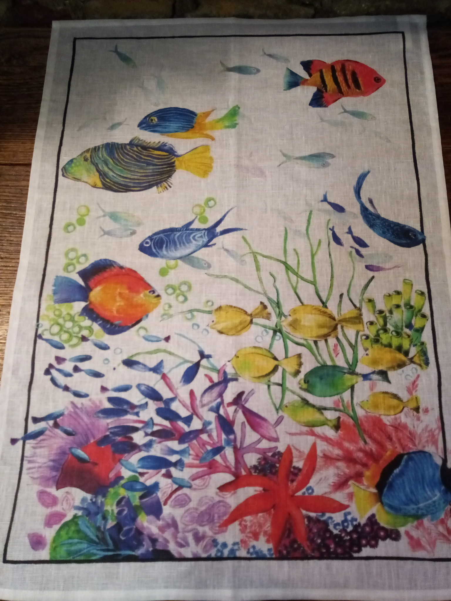 """Tea towel """"small fishes"""
