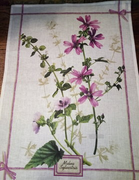 Wood mauve tea towel
