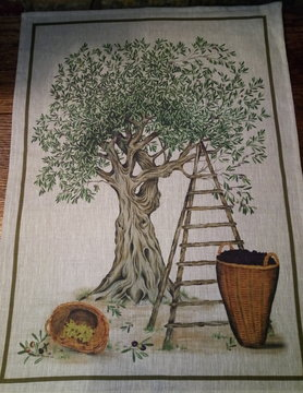 "tea towel ""olive tree"""