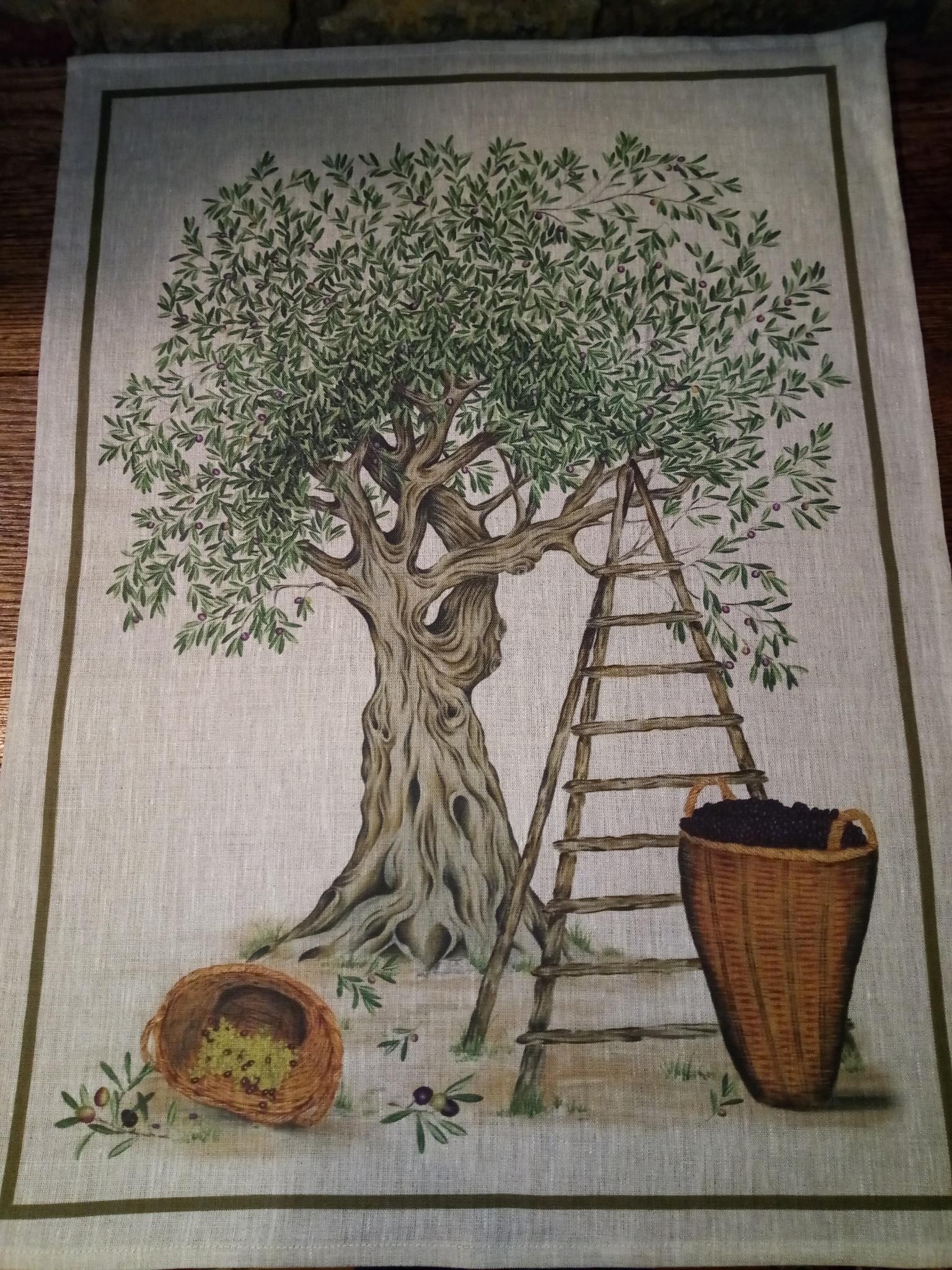 """tea towel """"olive tree"""""""