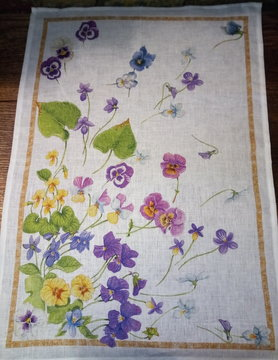 "Floral"" tea towel"""