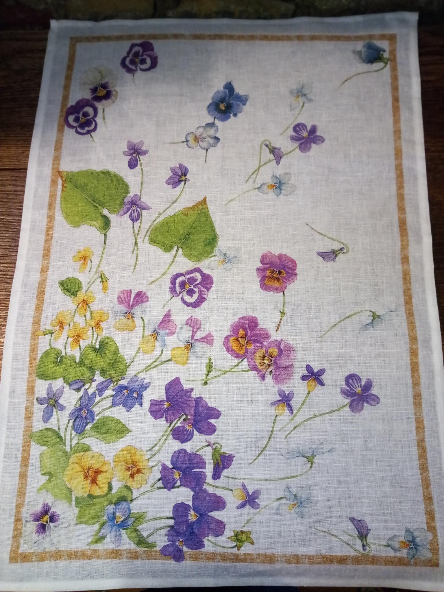 """Floral"""" tea towel"""