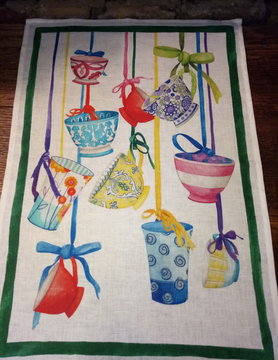 "tea towel "" hanging cups"""