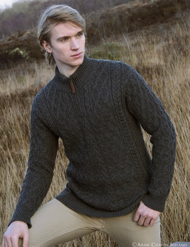 Donegal Truck Neck Sweater X4295