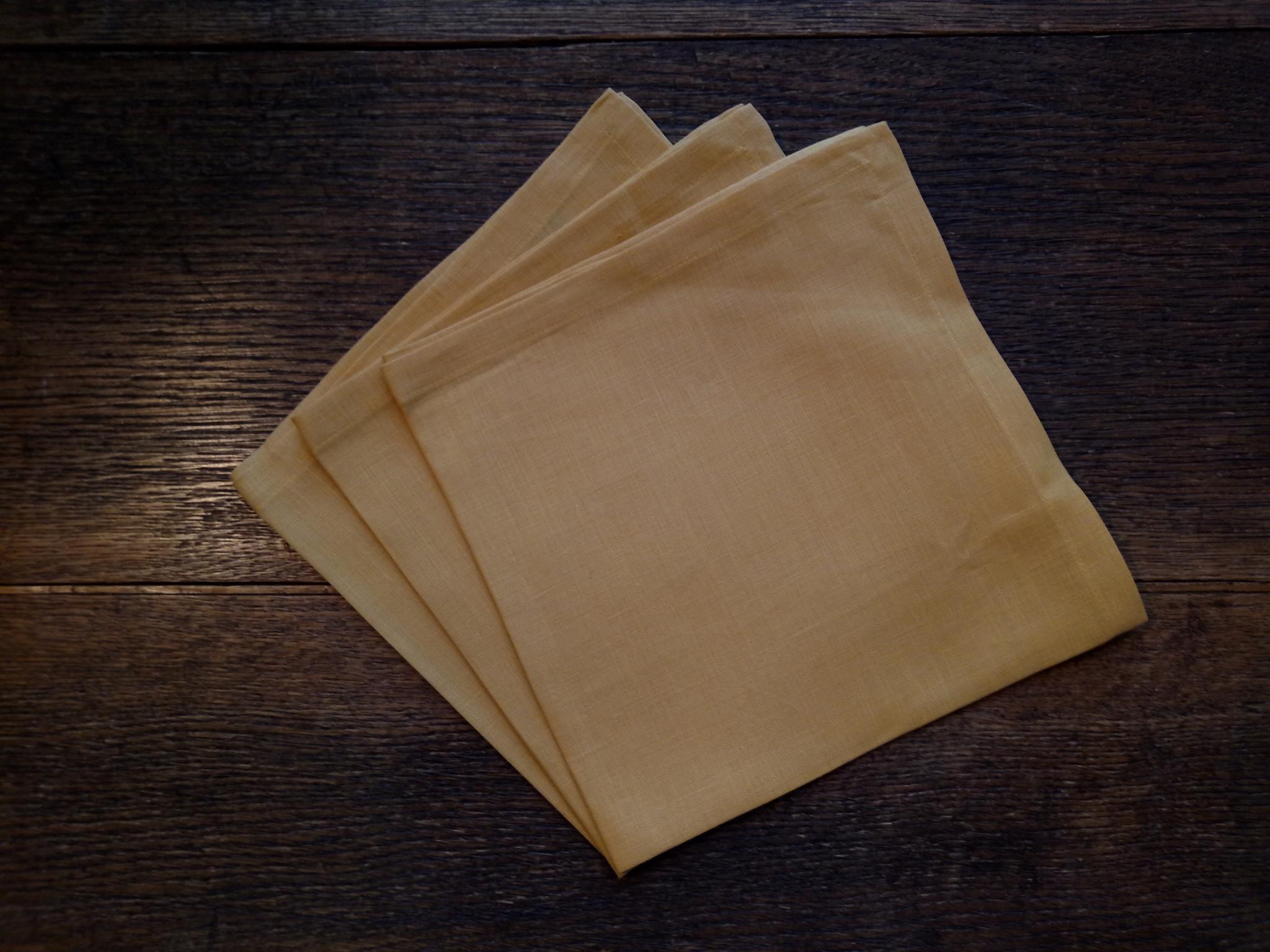 """Le grenier du lin serviette de table """" jaune """""""