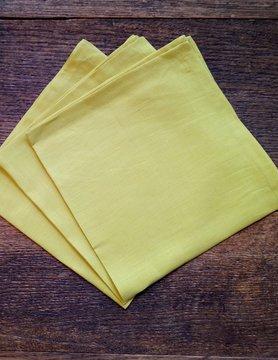 "Le grenier du lin napkin "" light yellow """