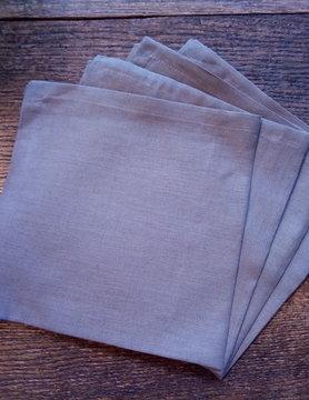 "Le grenier du lin napkin ""taupe"""