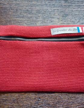 """Le grenier du lin Platte """"rode"""" koffer"""