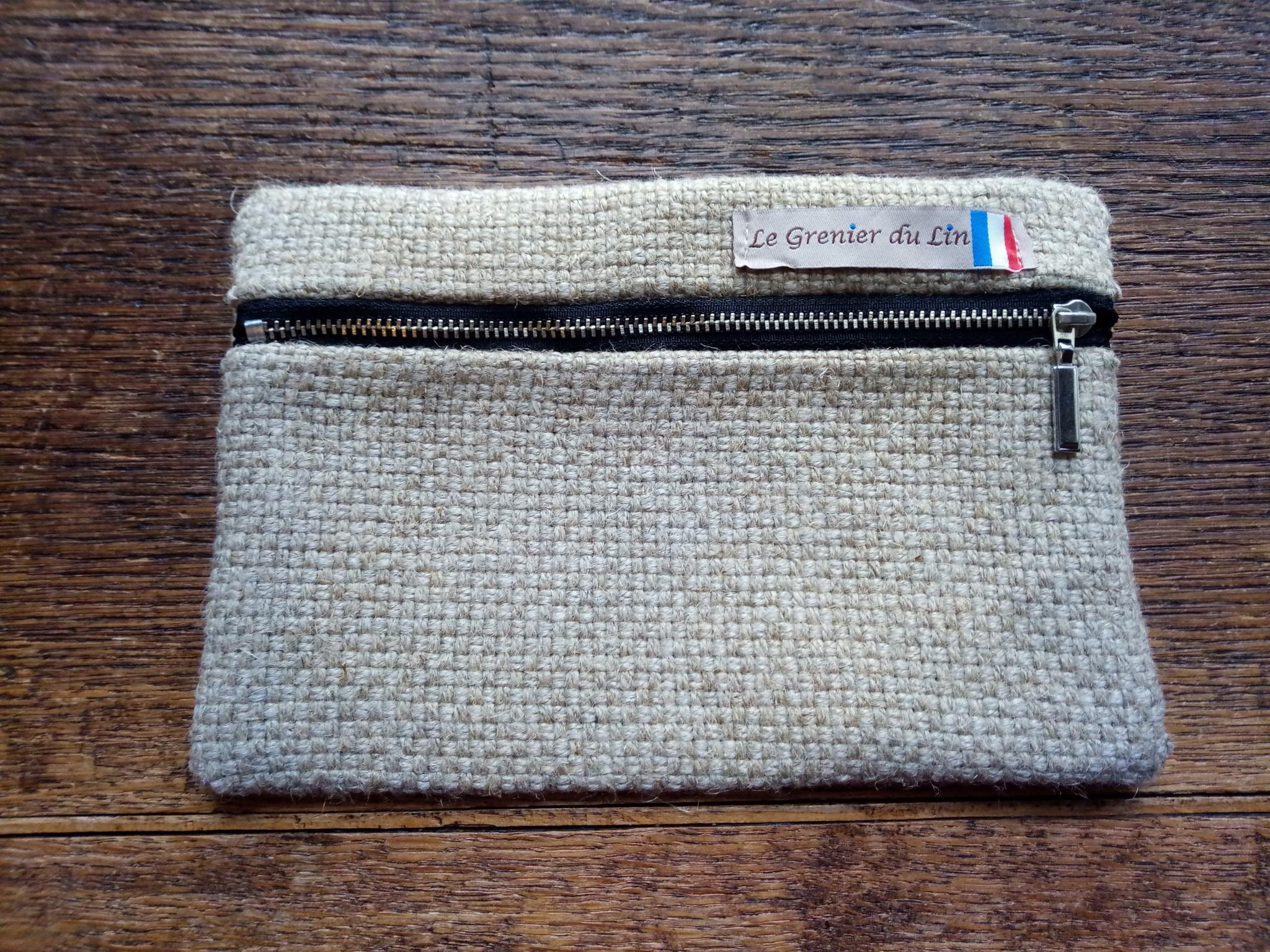 "Le grenier du lin Platte ""natuurlijke"" koffer"