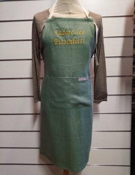 """Le grenier du lin """"j'adore les pissenlits"""" apron"""
