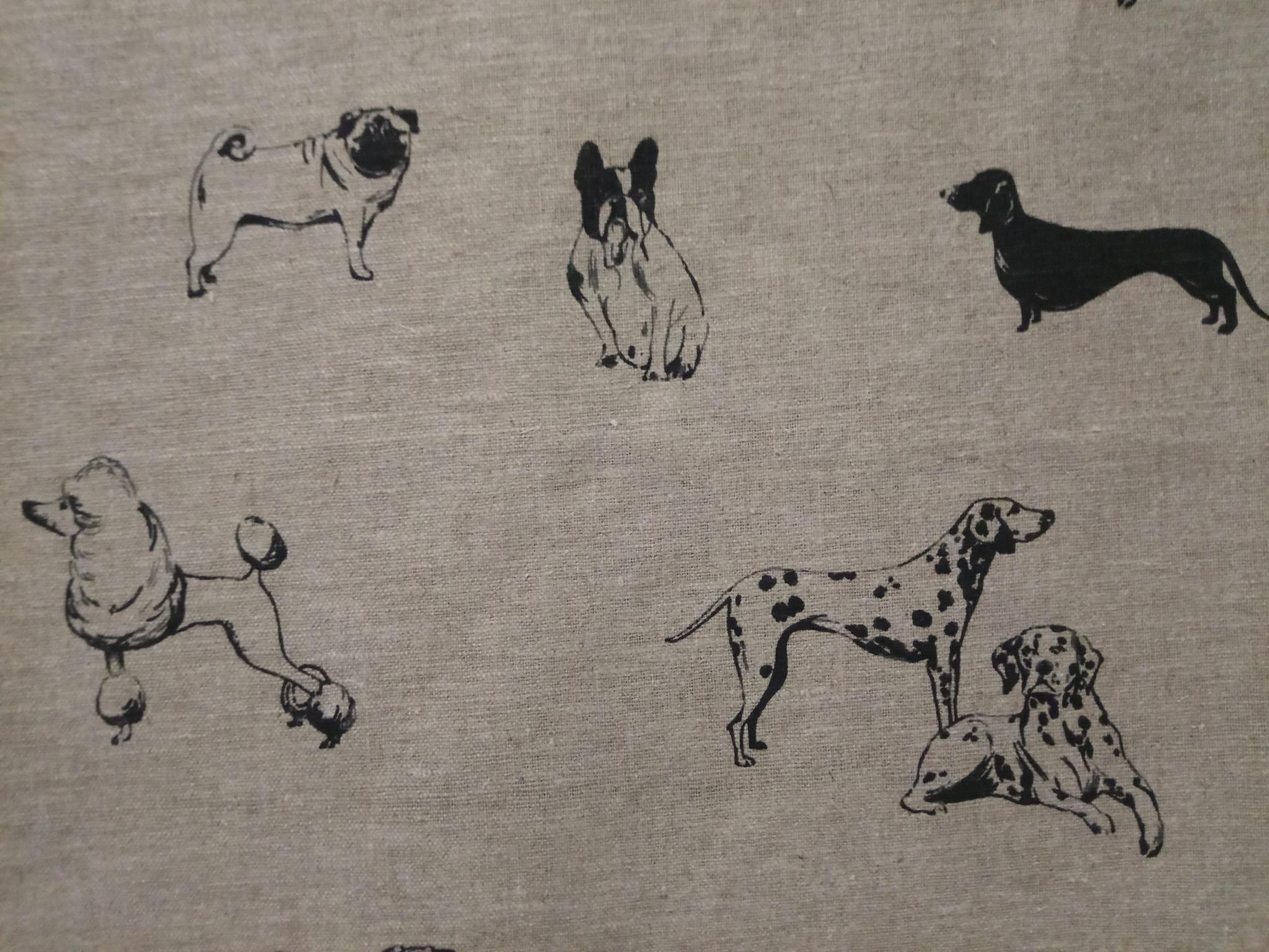 """Tissu """" chiens """""""