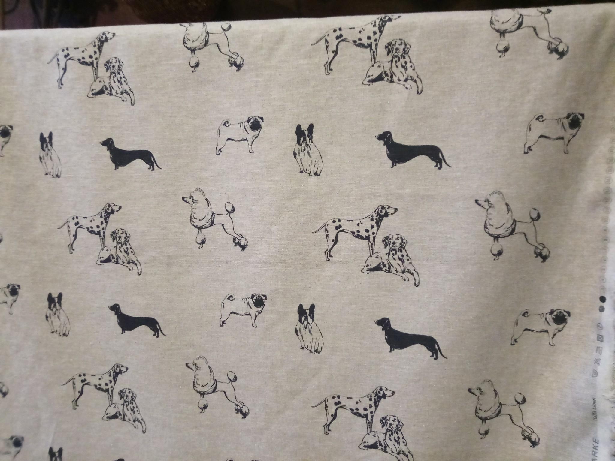 """Dogs"" fabric"