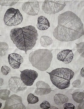"Grey foliage"" fabric"