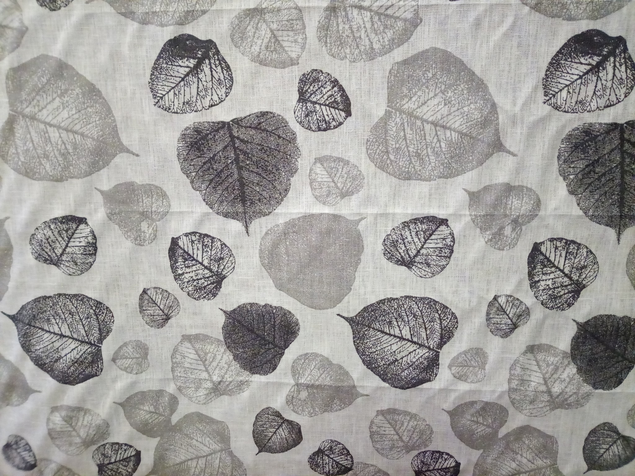 """Grey foliage"""" fabric"""