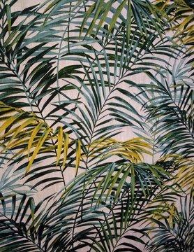 """Tissu """" palmier """""""
