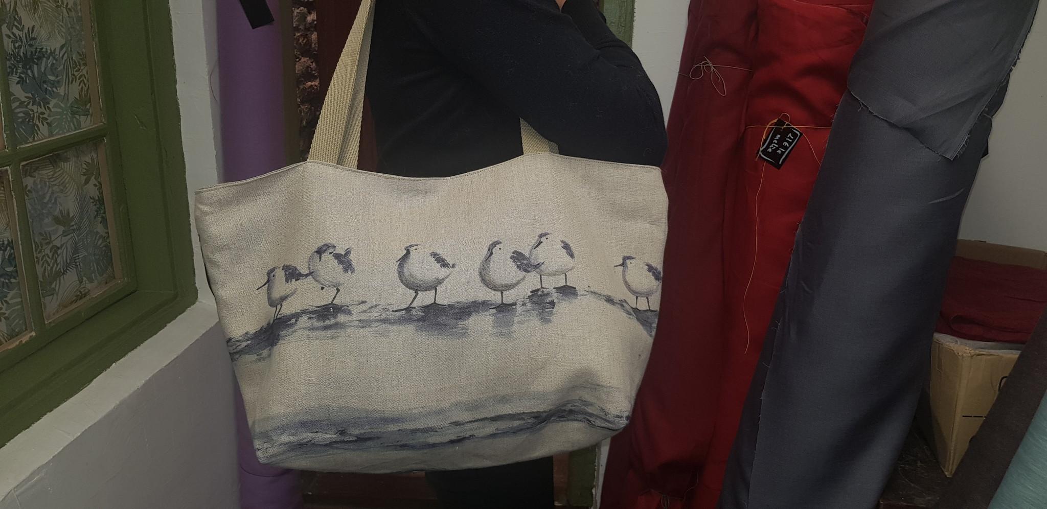 Le grenier du lin Seagull beach bag