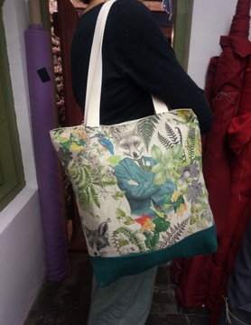 "Le grenier du lin Bicolour ""fox"" bag"