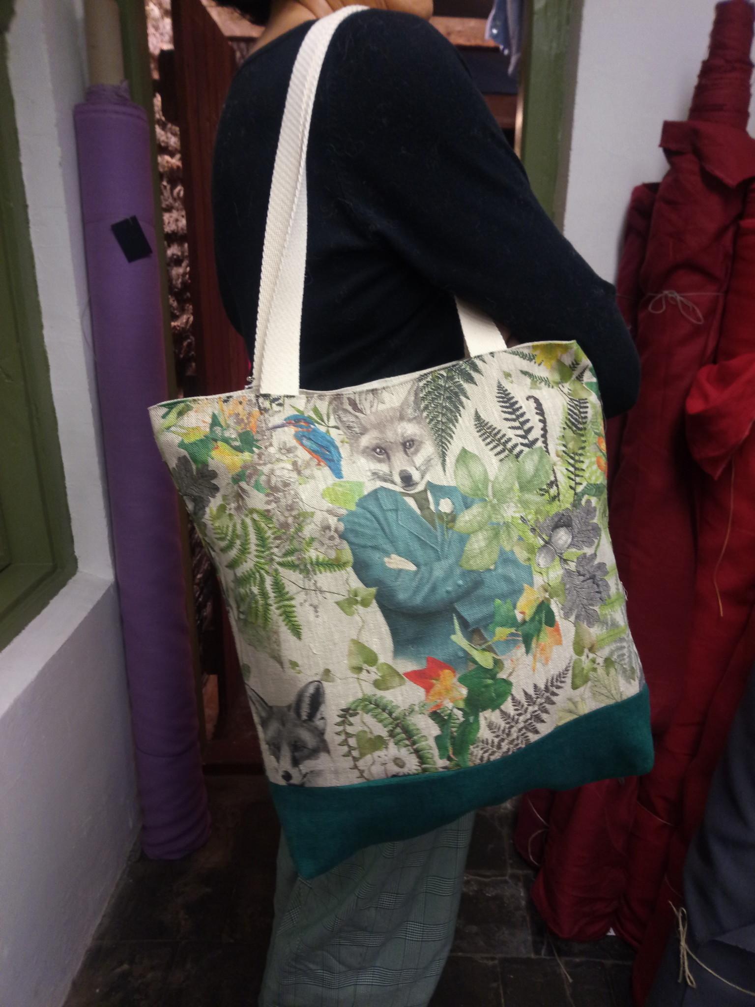 """Le grenier du lin Bicolour """"fox"""" bag"""