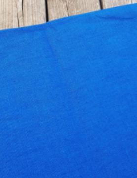 """Tissu lin lavé """" bleu roi """""""