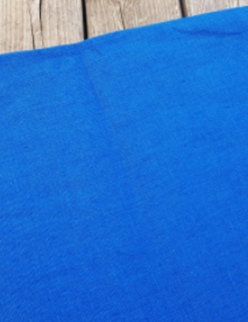 "Washed linen "" royal blue "" fabric"