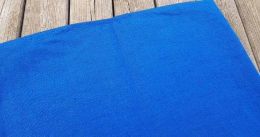 """Gewassen linnen stof """" bleu roi """""""