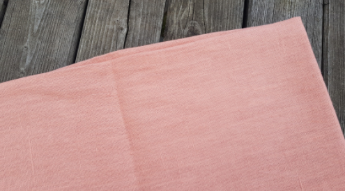 "Salmon"" washed linen fabric"