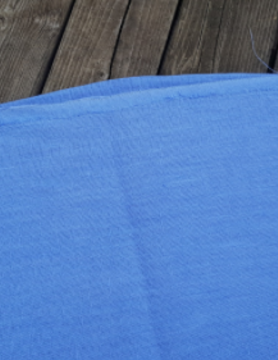 "Washed linen "" bleu lavande "" fabric"