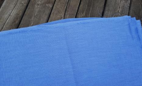 "Washed linen "" bleu lavande "" fabric"
