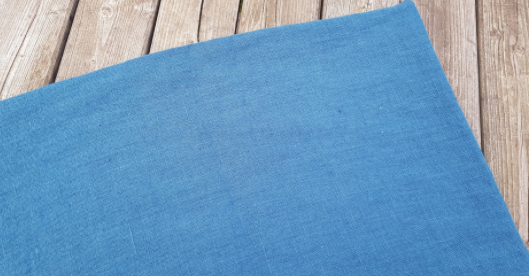 "Washed linen "" Navy blue "" fabric"