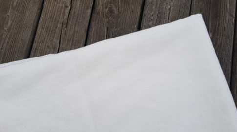 """Off-white"""" washed linen fabric"""