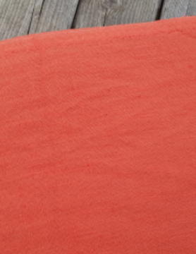 "Washed linen "" Orange "" fabric"
