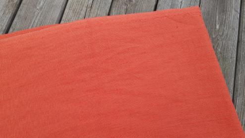 "Gewassen linnen stof "" Oranje"