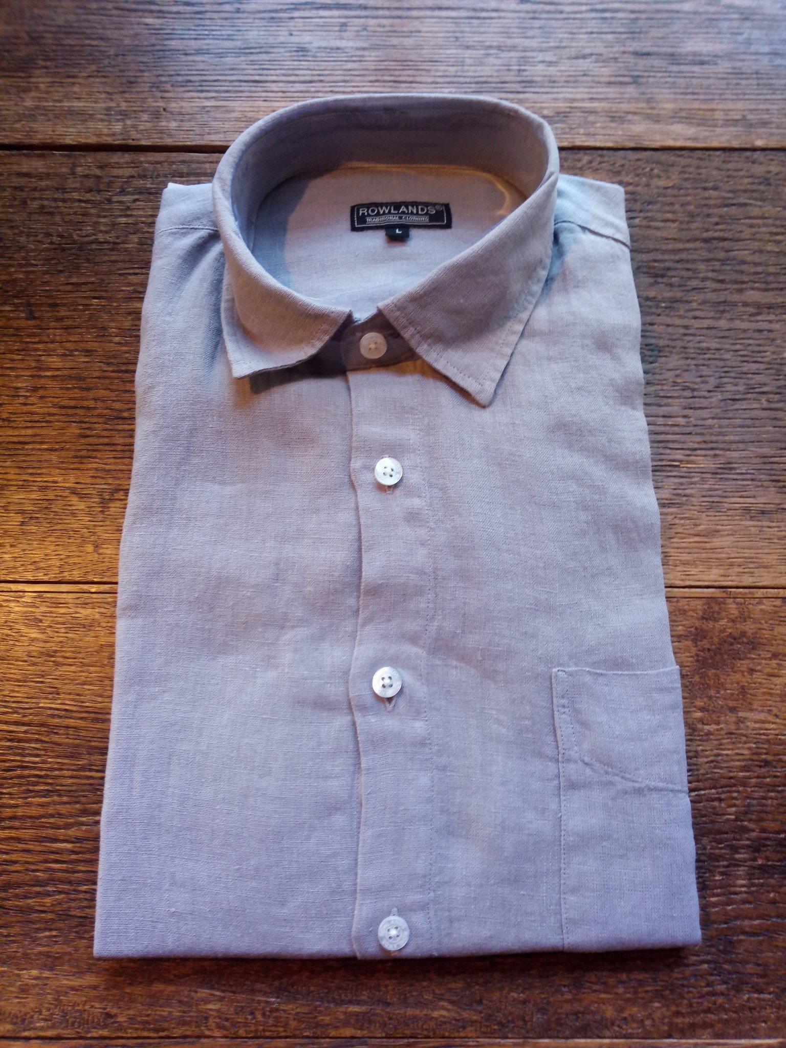 chemise manche longue gris