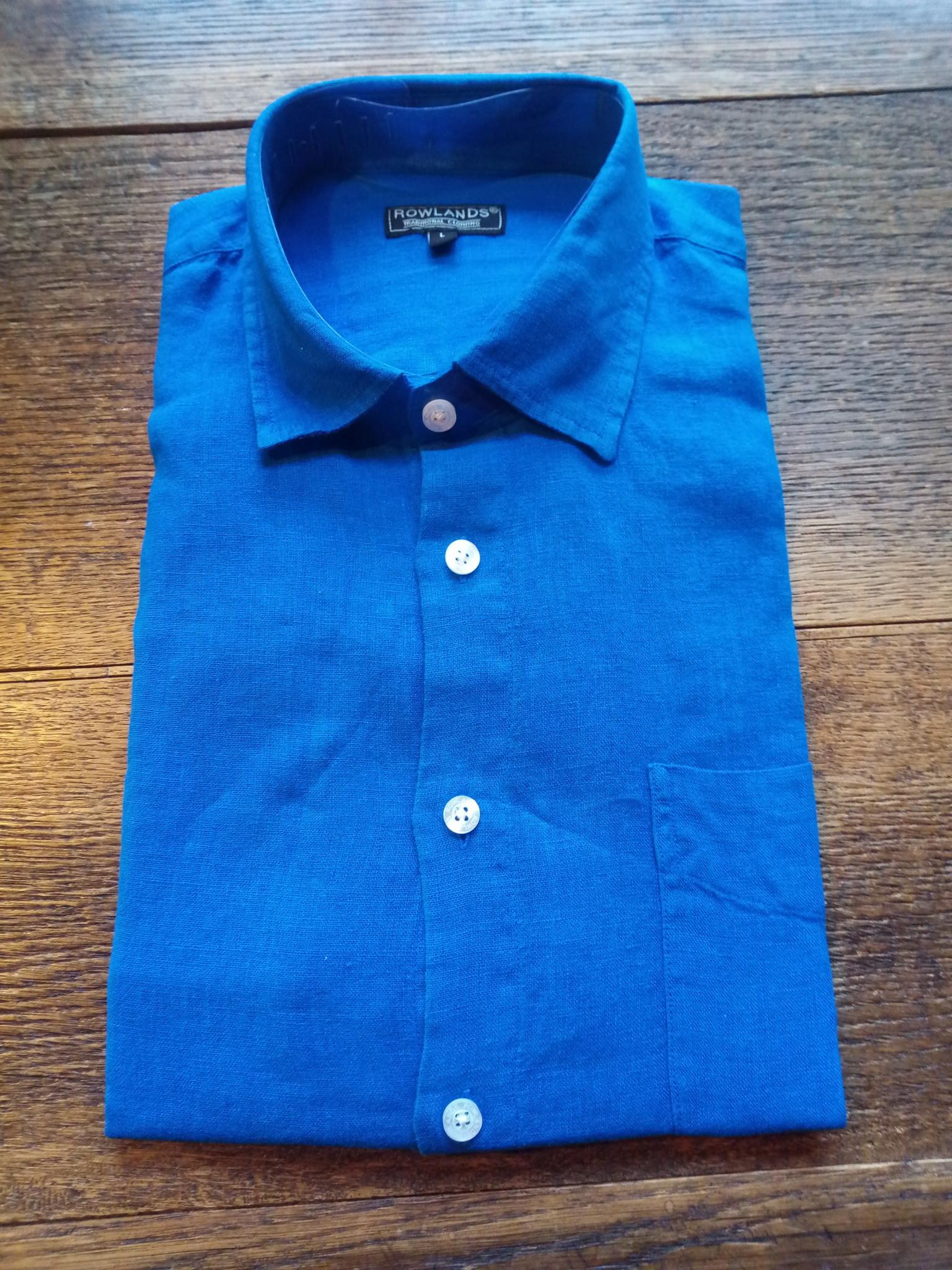 chemise manche longue Bleu roi