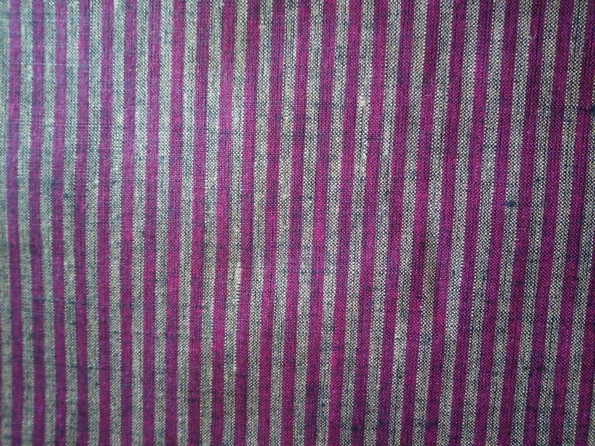 Purple striped fabric
