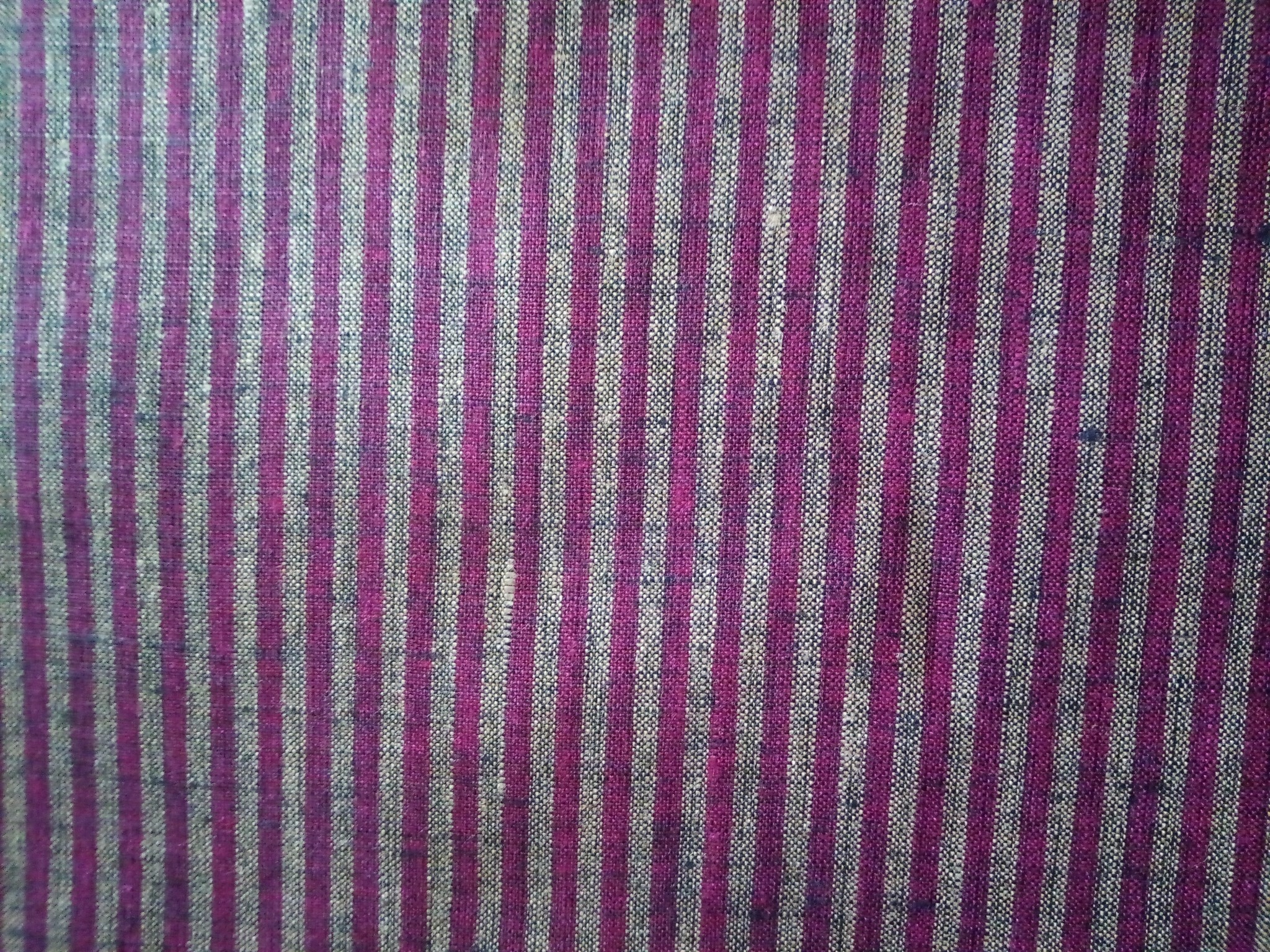 """Tissu rayé """" violet et jaune """""""