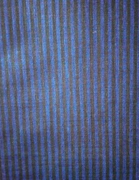 Blauw en zwart gestreepte stof