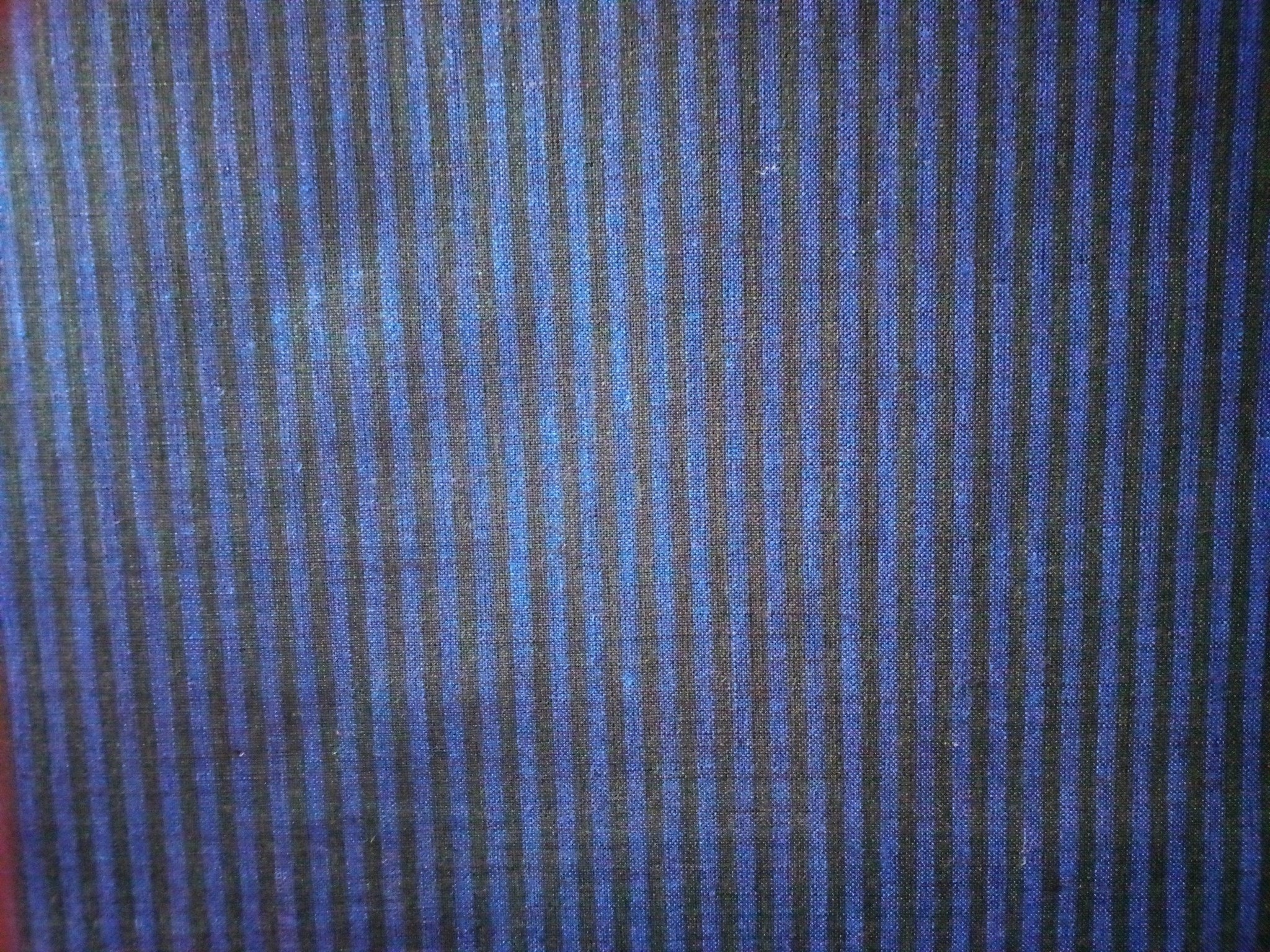 "Striped ""blue and black"" fabric"