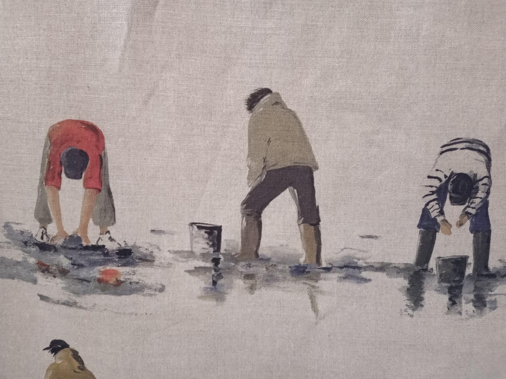 Linnen stof voor garnalenvissers