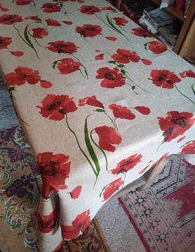 Le grenier du lin Poppy tablecloth
