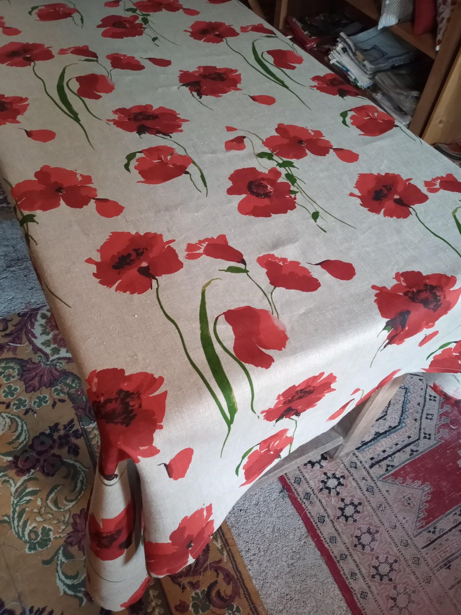 Le grenier du lin Poppy tablecloth