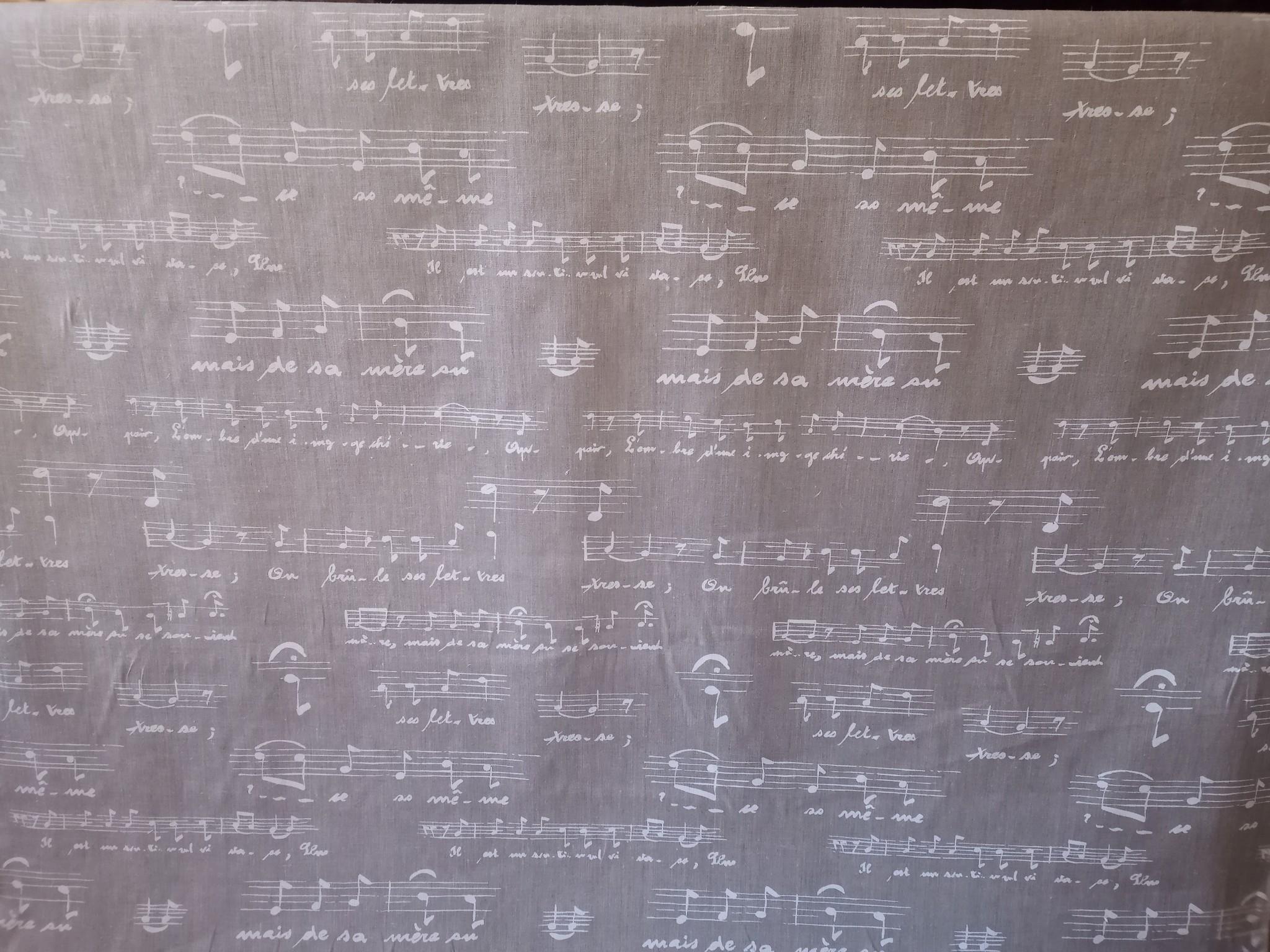"""Stof """"muziek partituur"""""""
