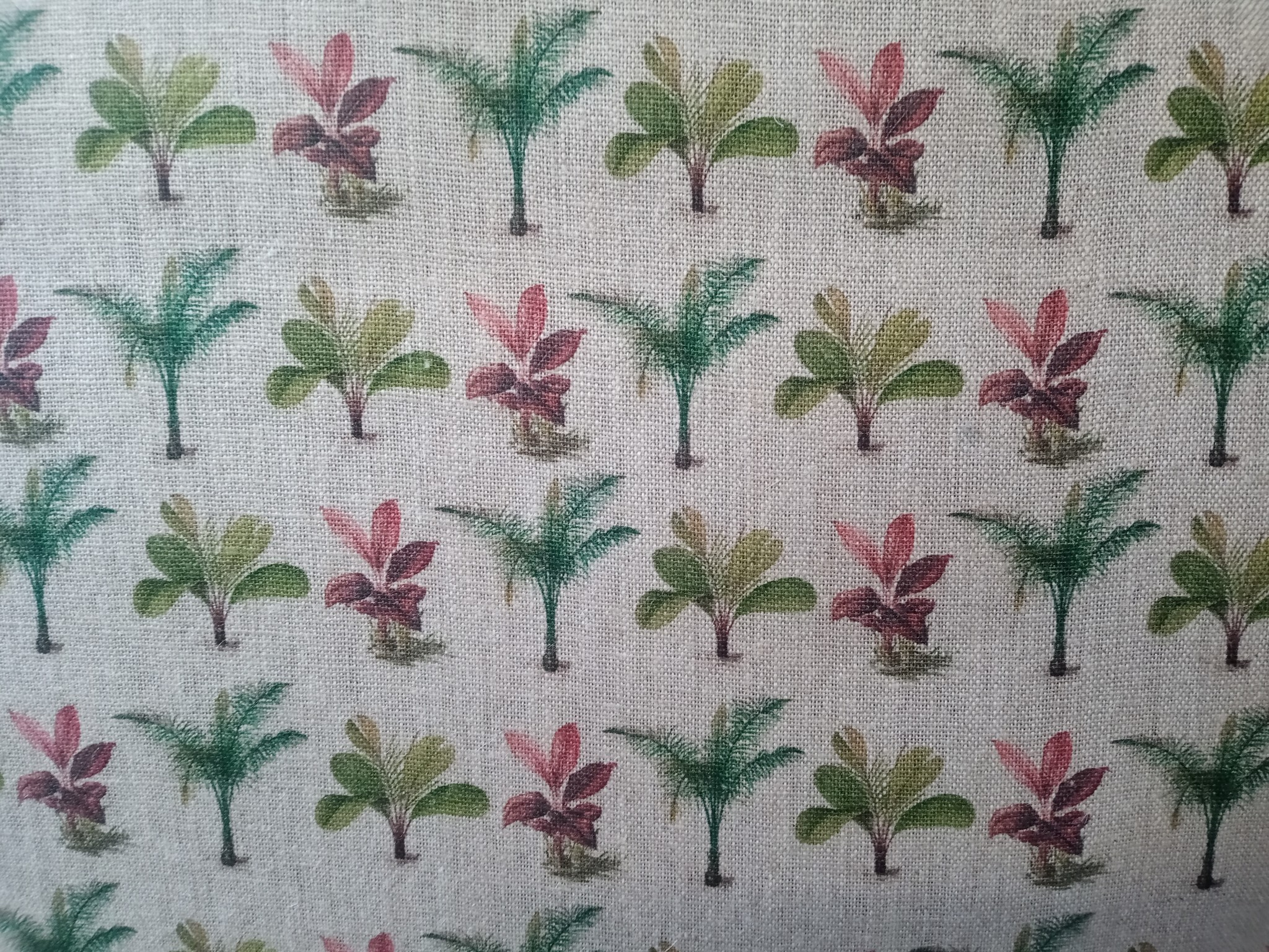 "Small palm tree"" fabric"