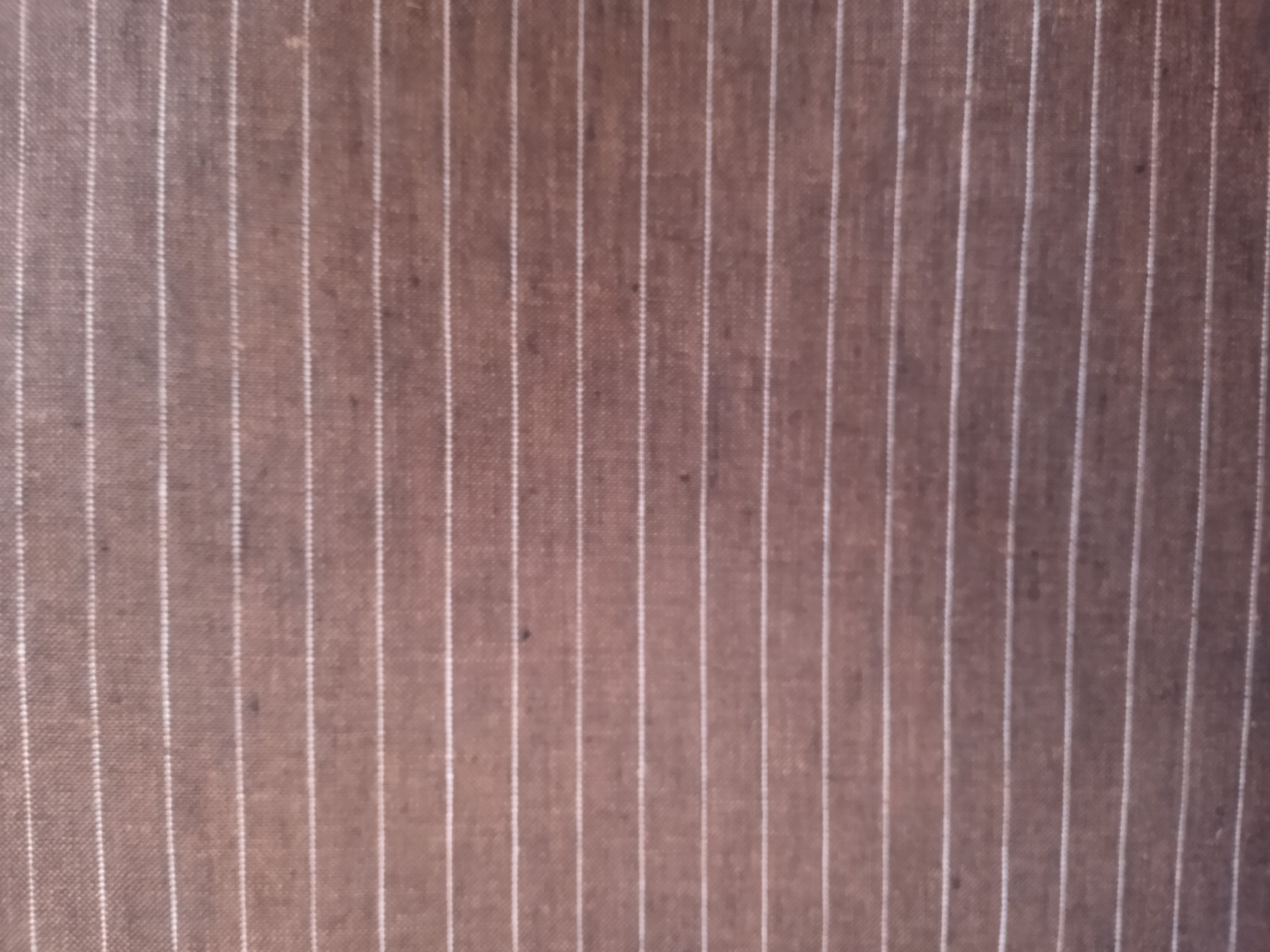 Brown striped white  clothing fabric