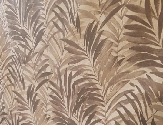 """Lin enduit """" palmier marron """""""