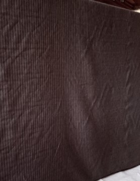 Tissu habillement  marron rayé blanc