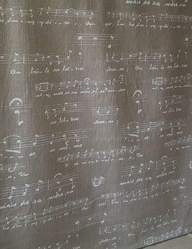 """Tissu """"partition  de musique"""""""